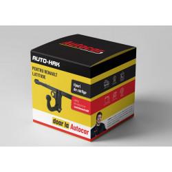 Cârlig de remorcare pentru CLIO - 3/5dv., (B/C 57_, B/357) - 3xxx - demontabil cu şuruburi - din 1990 până 1998/02